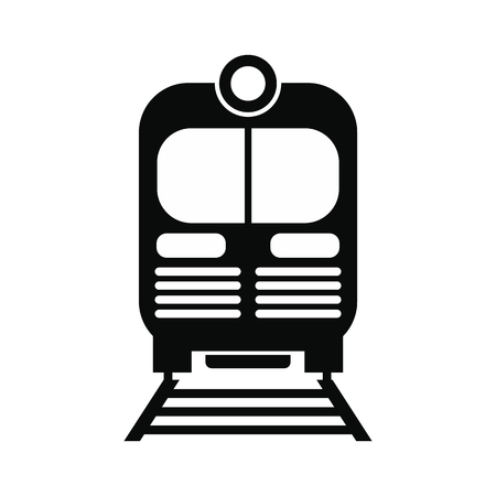 black train: Train black simple icon isolated on white background