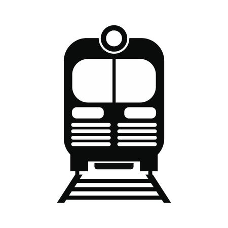 tren: Tren negro simple icono aislado en el fondo blanco