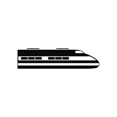 high speed: High speed train black simple icon isolated on white background