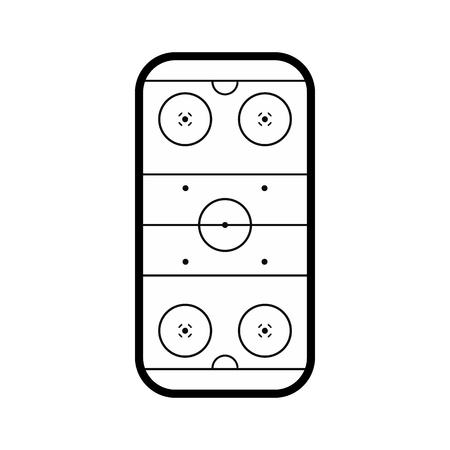 rink: Ice hockey rink black simple icon isolated on white background