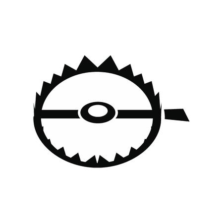 sharp: Sharp metal trap black simple icon isolated on white background Illustration