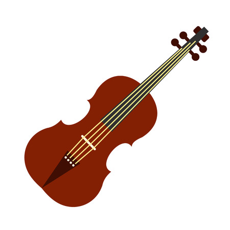 fiddles: Violin flat icon isolated on white background