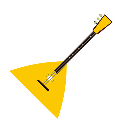 balalaika: Balalaika flat icon isolated on white background Illustration