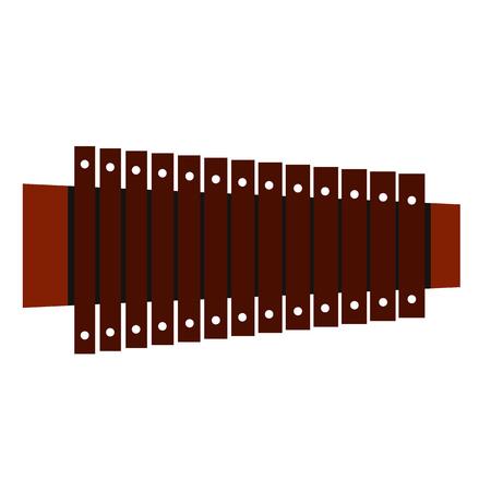 icona piatto xilofono isolato su sfondo bianco