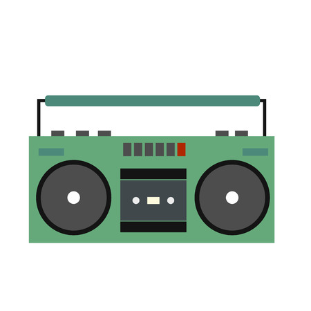 boombox: Boombox flat icon isolated on white background