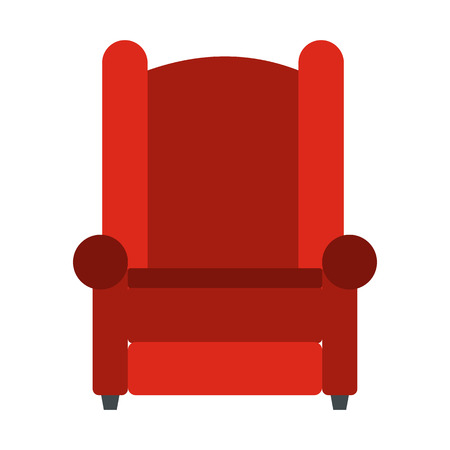armchair: Armchair flat icon isolated on white background