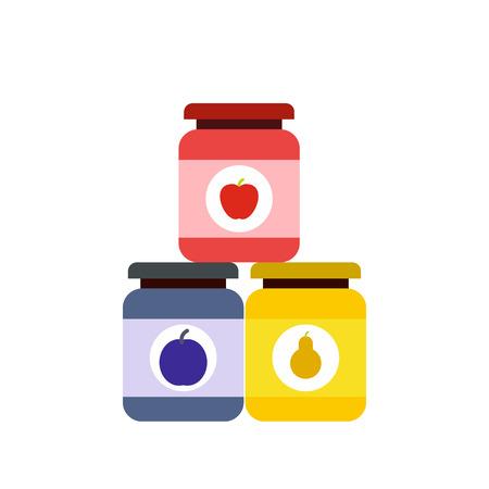 Baby food flat icon isolated on white background