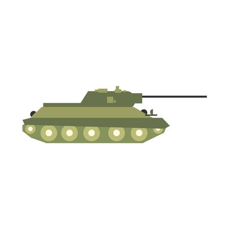 tanque de guerra: Tanque icono plana aislada en el fondo blanco