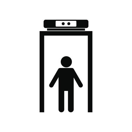 Metalldetektor schwarz einfache Symbol auf weißem Hintergrund Standard-Bild - 52018464