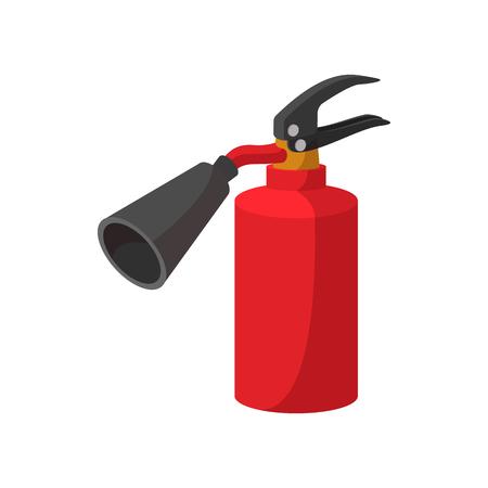 Fire extinguisher cartoon icon on white background Ilustracja