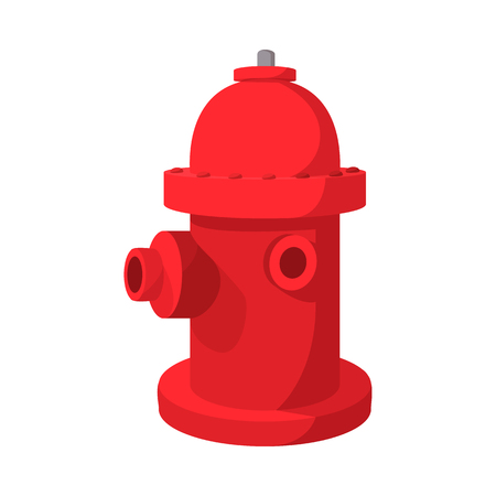 danger accident: Fire hydrant cartoon icon on a white background