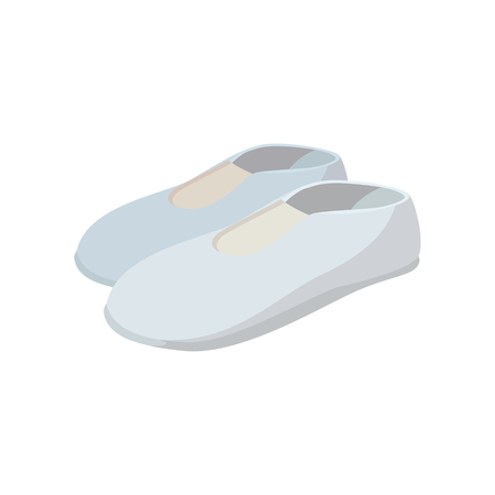 shoes cartoon: White shoes cartoon icon on a white background