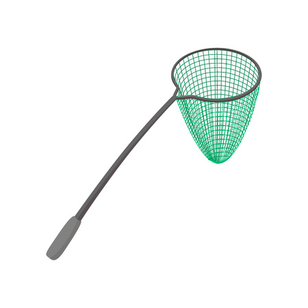 Fishing net cartoon icon on a white background
