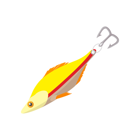 fishing lure: Fishing lure cartoon icon on a white background