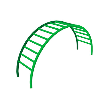 climbing stairs: Climbing stairs cartoon icon. Clombing frame on a white background