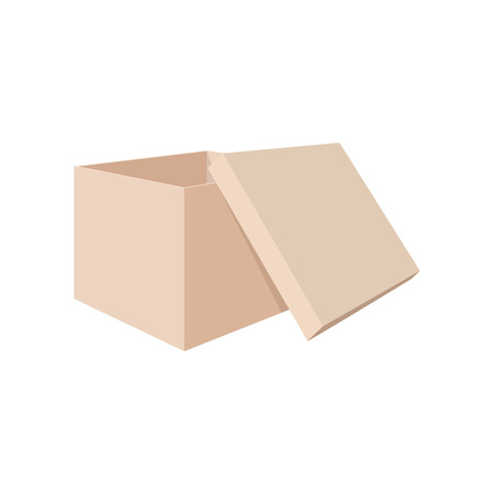 shoe box: Shoe box cartoon icon on a white background