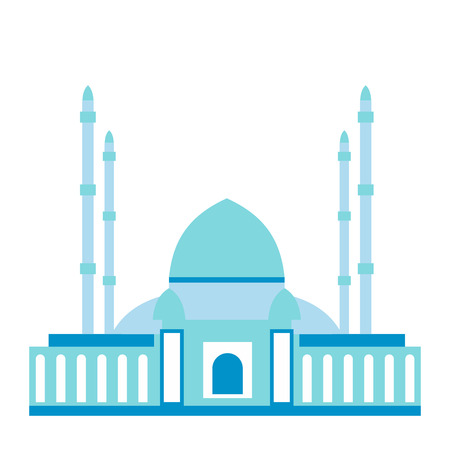 hagia sophia: Mosque flat icon isolated on white background