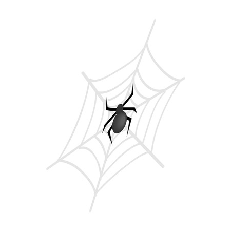cobwebby: A spider and a web isometric 3d icon on a white background Illustration