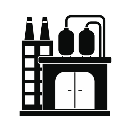 refinery: Oil refinery or chemical plant black simple icon
