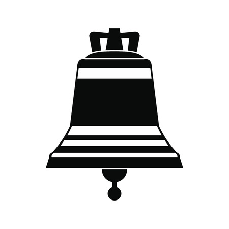 church bell: Church bell black simple icon isolated on white background