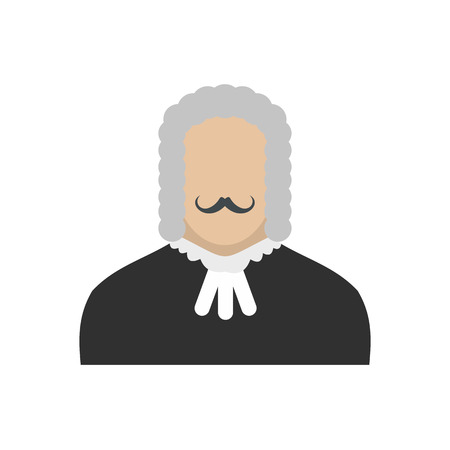 supreme: Judge flat icon isolated on white background Illustration