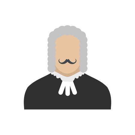 supreme court: Judge flat icon isolated on white background Illustration