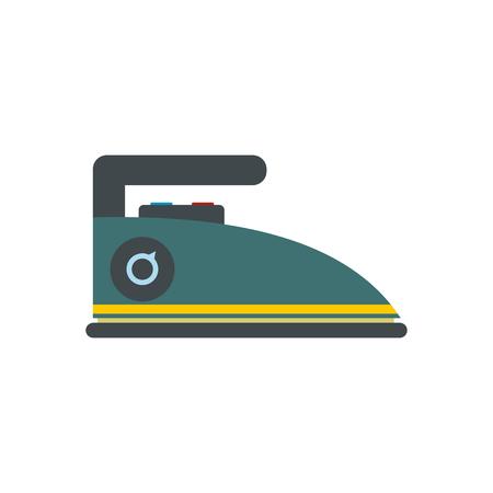 flat iron: Blue iron flat icon isolated on white background Illustration