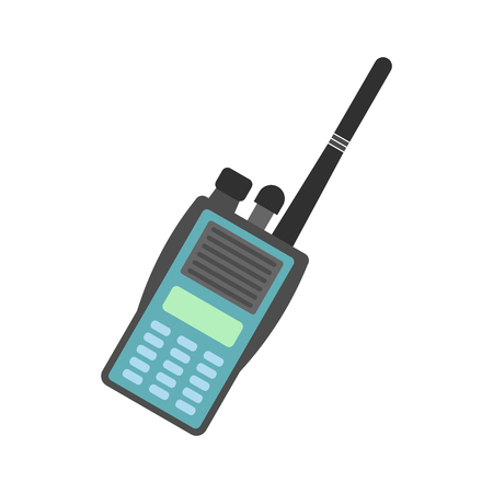 simplex: Military radio flat icon isolated on white background