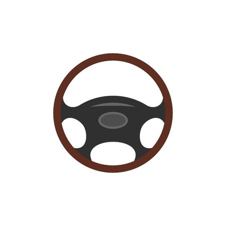 Auto-Rad flach Symbol auf weißem Hintergrund