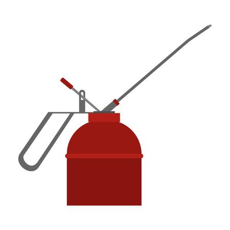 flammability: Fire extinguisher flat icon isolated on white background