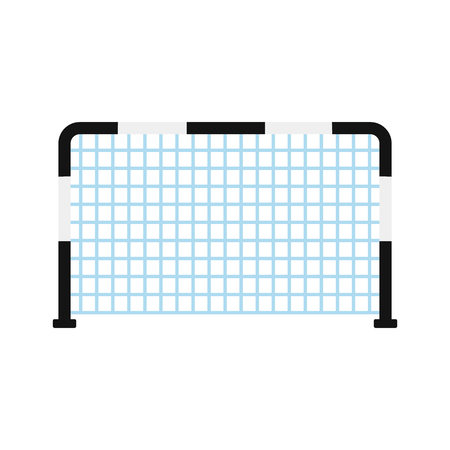 soccer goal: Soccer goal flat icon isolated on white background