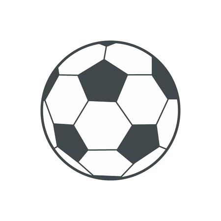 futbol soccer: balón de fútbol icono plana aislada en el fondo blanco
