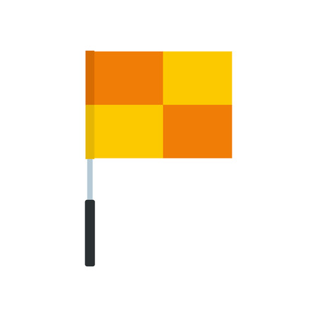 flagpole: Yellow flag on flagpole  flat icon isolated on white background