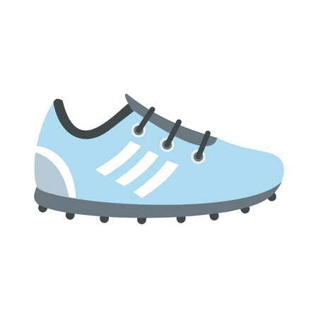 soccer shoes: Soccer shoes flat icon isolated on white background