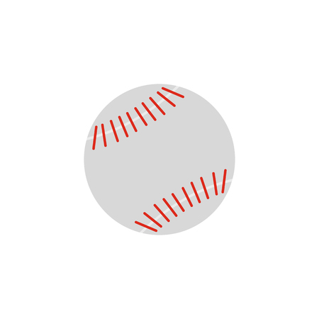 fastball: Baseball flat icon isolated on white background