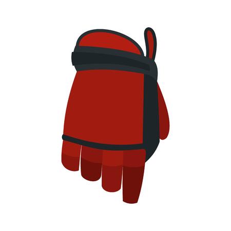 padding: Hockey glove flat icon isolated on white background