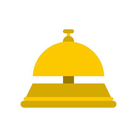 concierge: Reception bell flat icon isolated on white background