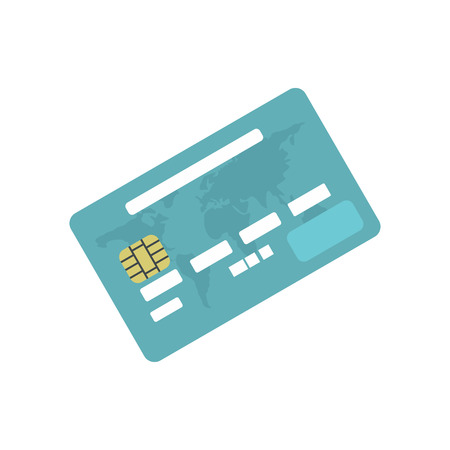 e pay: Credit card flat icon isolated on white background