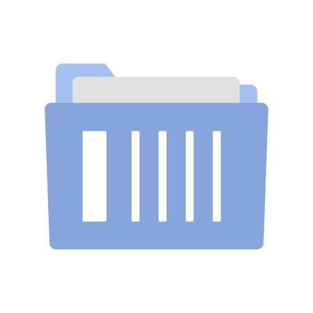 folder: carpeta de archivo de icono plana aislada en el fondo blanco