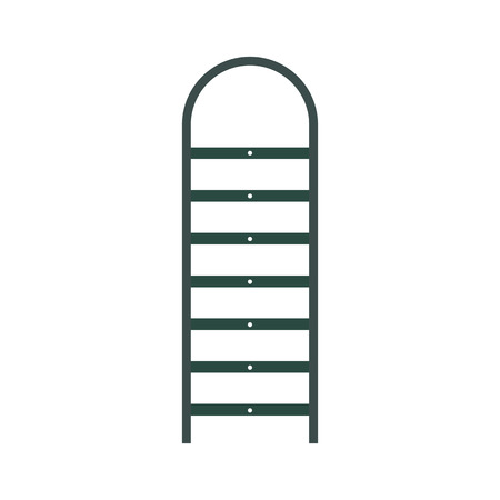 backstairs: Ladder flat icon isolated on white background
