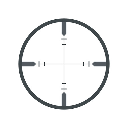 Crosshair flat icon isolated on white background