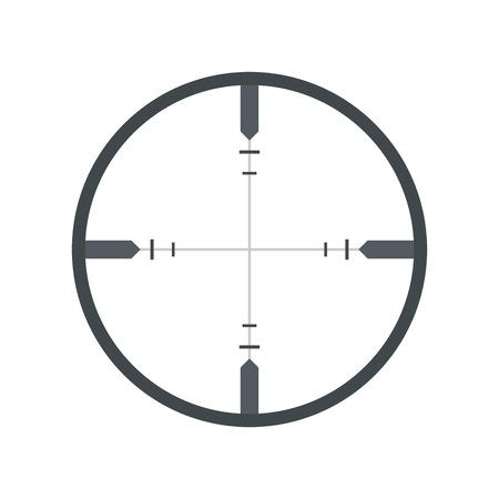 Crosshair flat icon isolated on white background