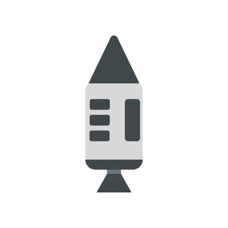 spacecraft: Spacecraft flat icon isolated on white background Illustration