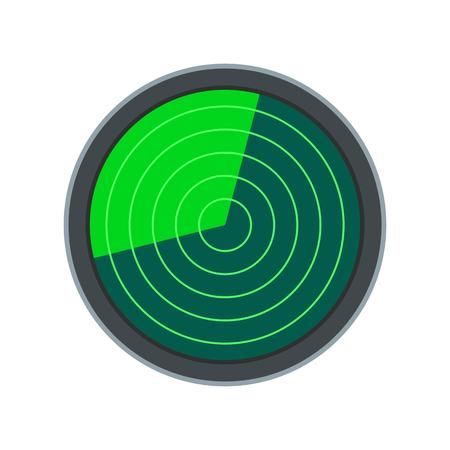 Radar flat icon isolated on white background