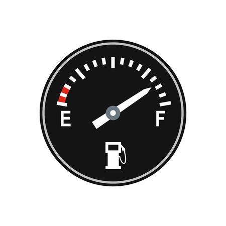 fuel gauge: Fuel gauge flat icon isolated on white background