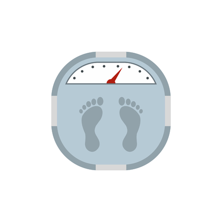 bathroom weight scale: Weight scale flat icon isolated on white background