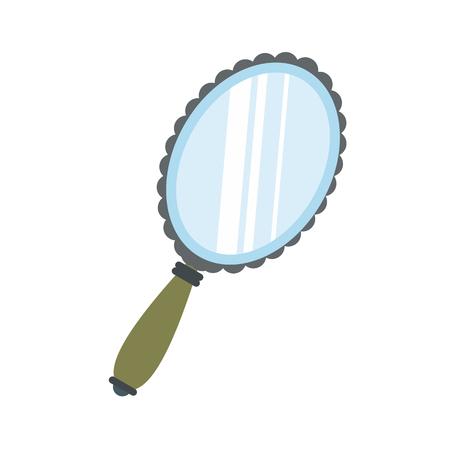 Espejo icono plana aislada en el fondo blanco