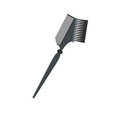 bilateral: Bilateral comb flat icon isolated on white background Illustration
