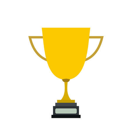 trophy winner: Goblet flat icon isolated on white background