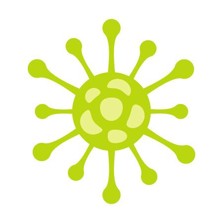 Virus flat icon isolated on white background. Coronavirus